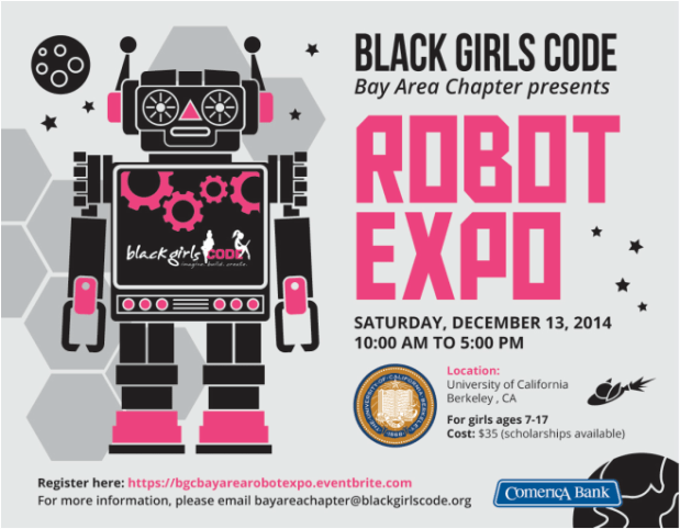 Black Girls Code Dec13, 2014 Robot Expo
