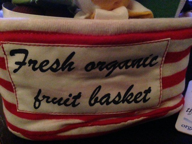 Organic Fruit Basket 100% Cotton