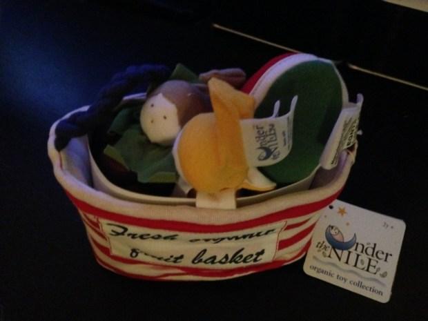 Uncommon Goods unique gifts Organic Fruit Basket for infants