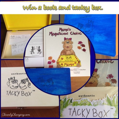 Enter to win a book and tacky box set to help your children learn that their words matter.