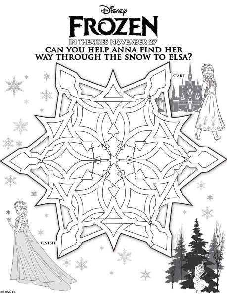 Disney's Frozen Anna and Elsa Maze