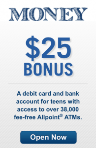 Did free bank account for teens