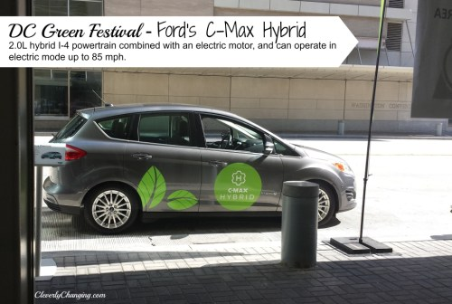 DC Green Festival - Ford's C-Max Hybrid 2.0L hybrid I-4 powertrain combined with an electric motor, and can operate in electric mode up to 85 mph. #green #cars