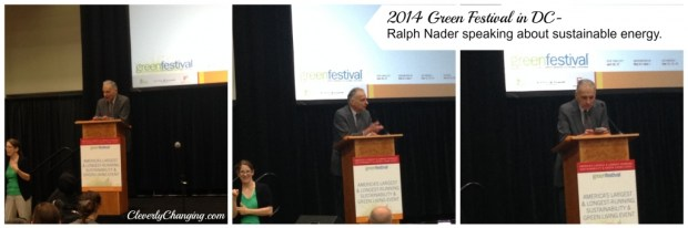 Ralph Nader speaking about sustainable energy.
