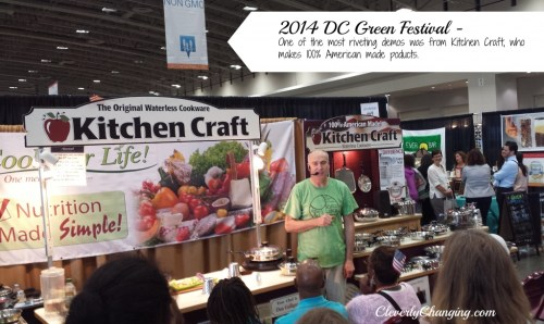2014 DC Green Festival - One of the most riveting demos was from Kitchen Craft, who makes 100% American made poducts.