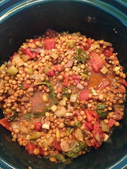 Slow Cooked Vegan Lentils #vegan #slowcooked #meals