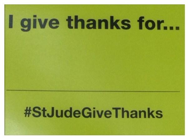 Nove 24th - I Give Thanks For... #StJudeGiveThanks