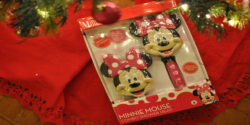 Disney Minnie Mouse (water-saving) Shower Head #holiday #gifts via @CleverlyChangin