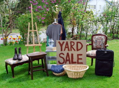 Clearly mark your Yard Sale items to make it look professional
