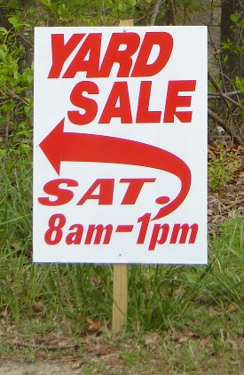 Promote your Yard Sale to make it look professional