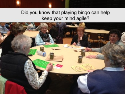 Seniors and bingo
