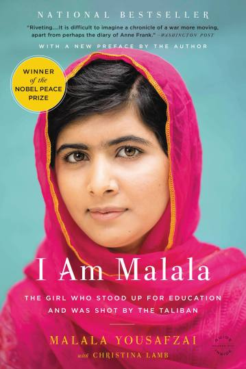 I am Malala a story about a courageous teenager who was almost killed but continues to speak up and fight for peace.