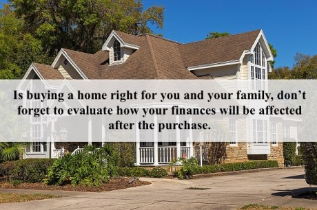 Buying a home can seriously affect your finances afterwards #FinanceFriday