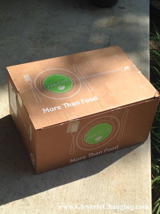 Hello Fresh boxes Arrive at your door
