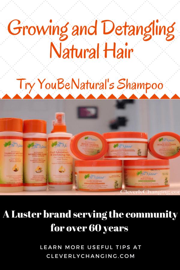 Luster - YouBeNatural Shampoo, a great shampoo choice for natural hair