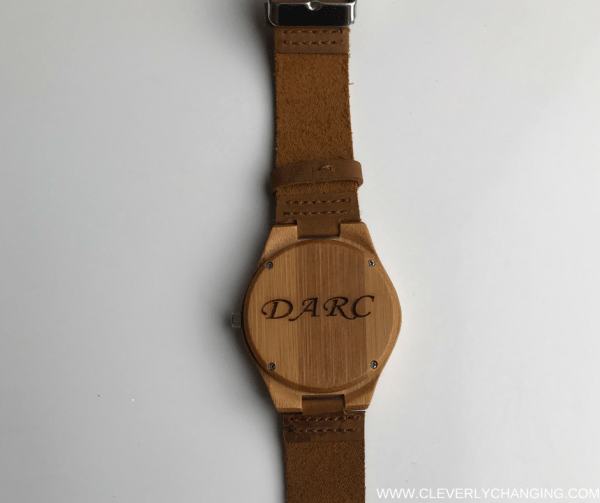 Personalized wood watch review enclosed