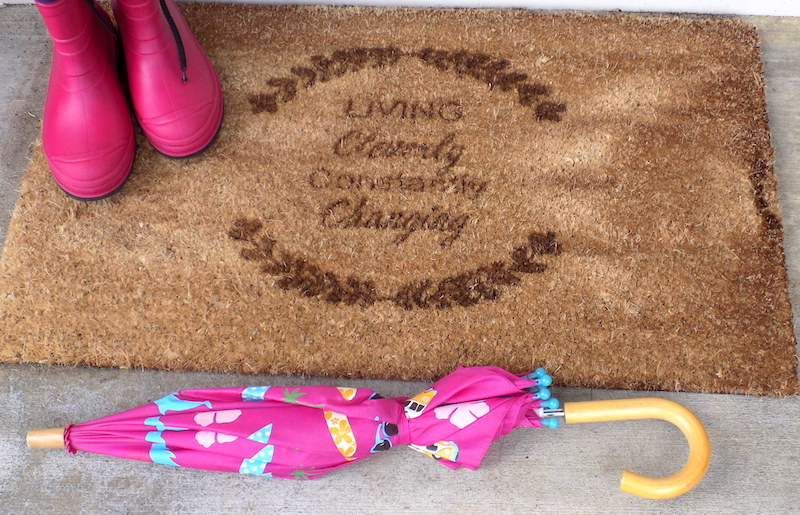 Personalized doormat review from personalized cart