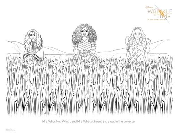 AWrinkleInTime_3 Beings Printable Coloring Pages for A Wrinkle in Time Fans