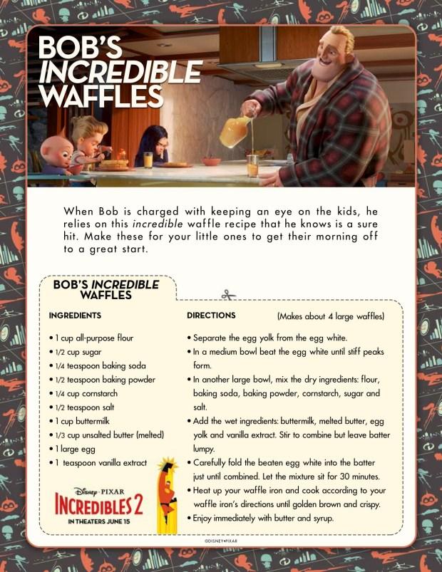 Incredibles2 Bobs Incredible Waffles