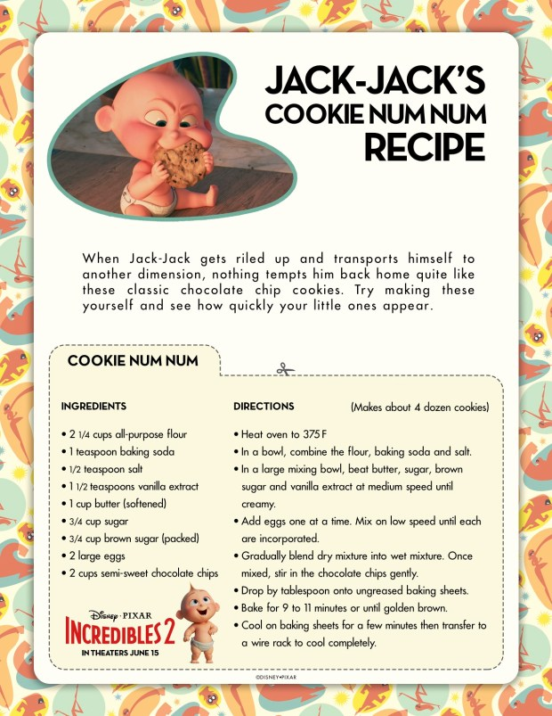 Incredibles2 Cookie Recipe