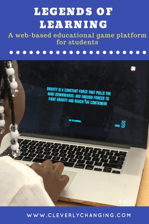 Legends of Learning educational gaming platform - learning through play
