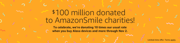 Amazon Smile Multiplies Donations through Nov 2 2018
