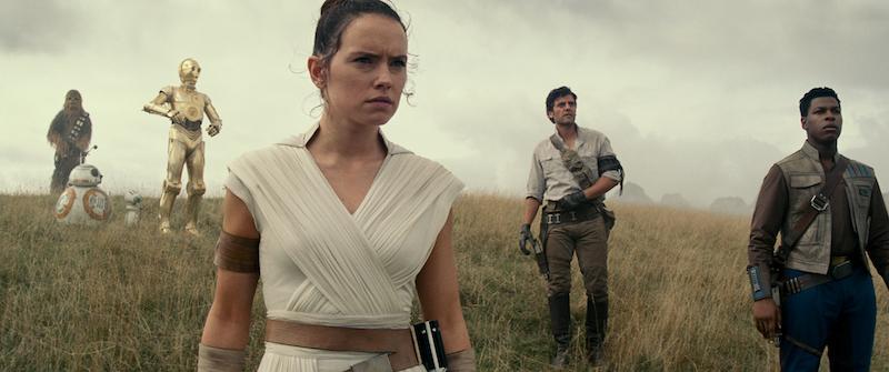 C3PO (Anthony Daniels), Finn (John Boyega) and Poe Dameron (Oscar Isaac) in STAR WARS: EPISODE IX - New Still Movie Reveal