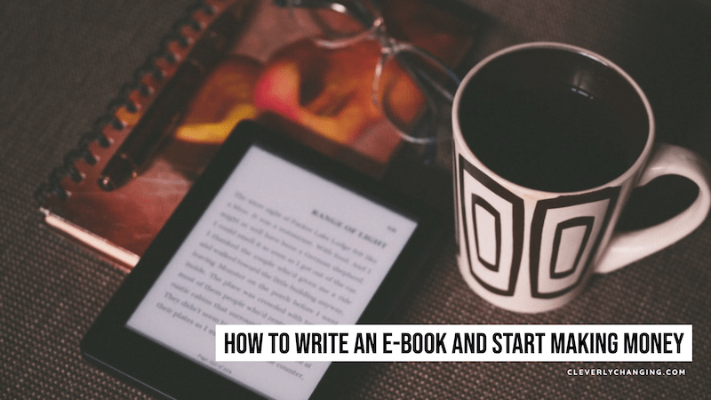 How to Write an e-Book and Start Making Money | online book and mug