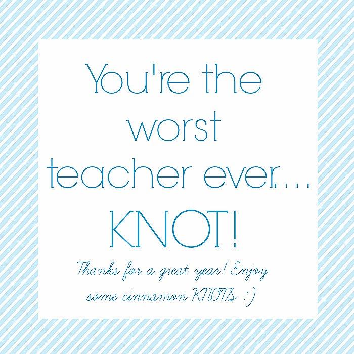 teacher KNOT printable
