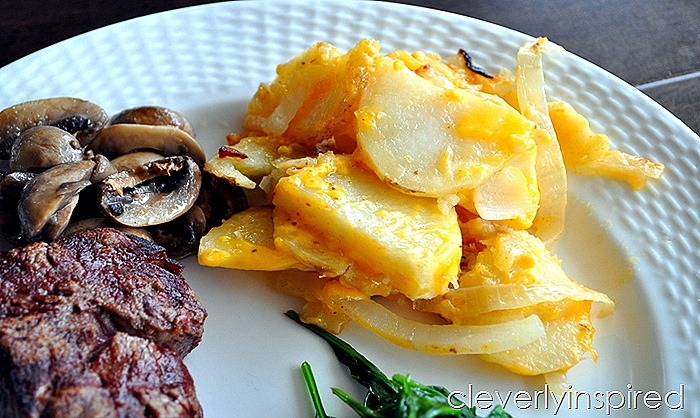 easy cheesy grilled potatoes @cleverlyinspired (2)