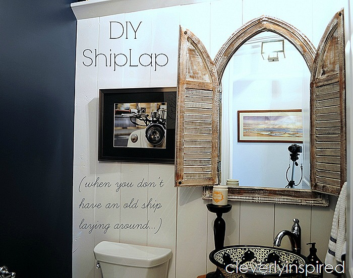 DIY shiplap @cleverlyinspired (1)