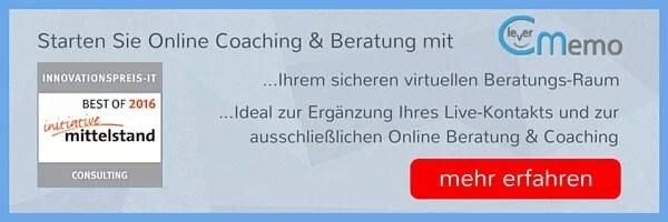 Online Beratung und Coaching Banner