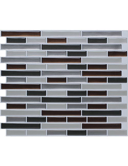 Clever Mosaics peel and stick vinyl tile backsplash