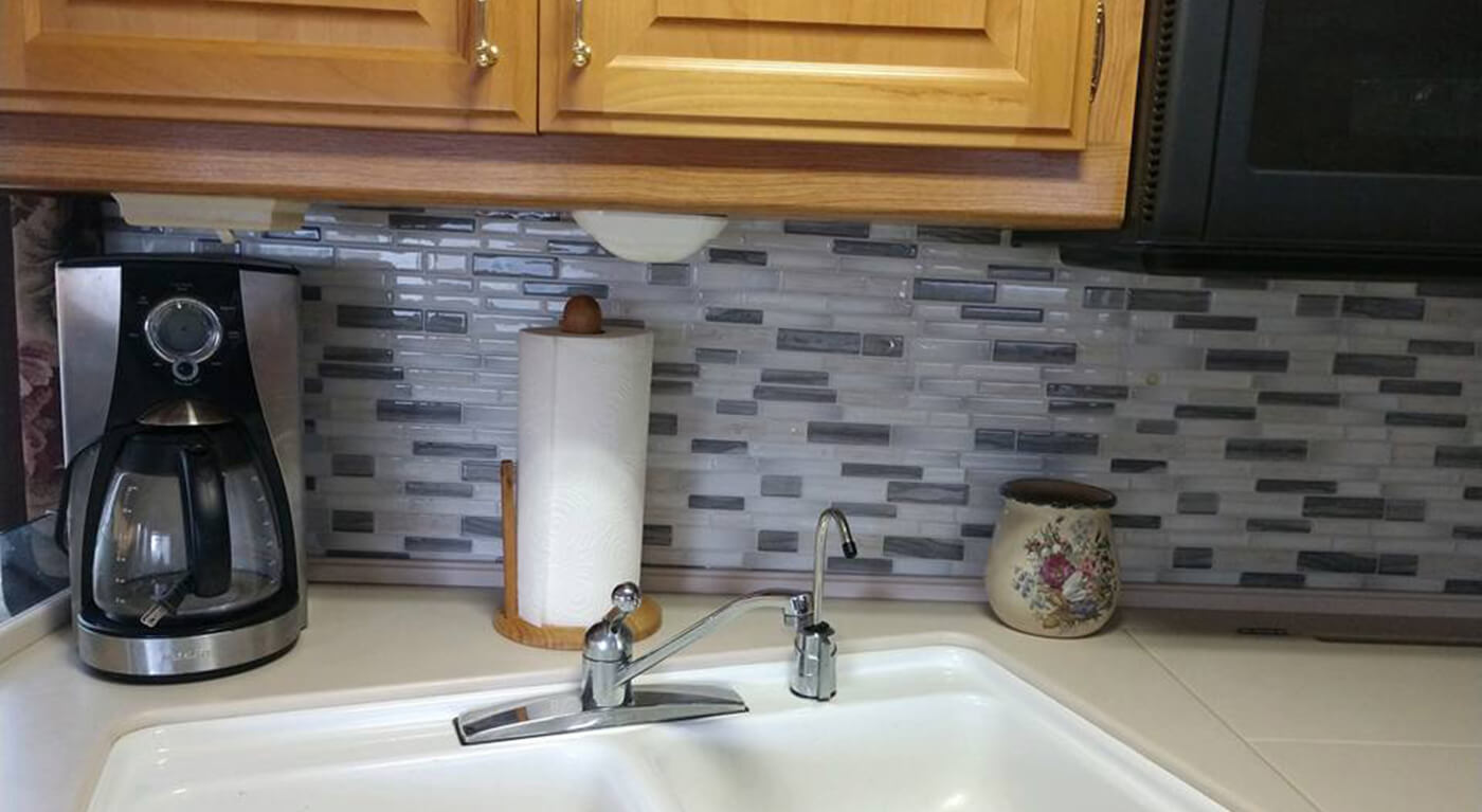 - 2018 Home Decor Trends Peel And Stick Tile Backsplash