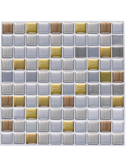 plastic tile backsplash