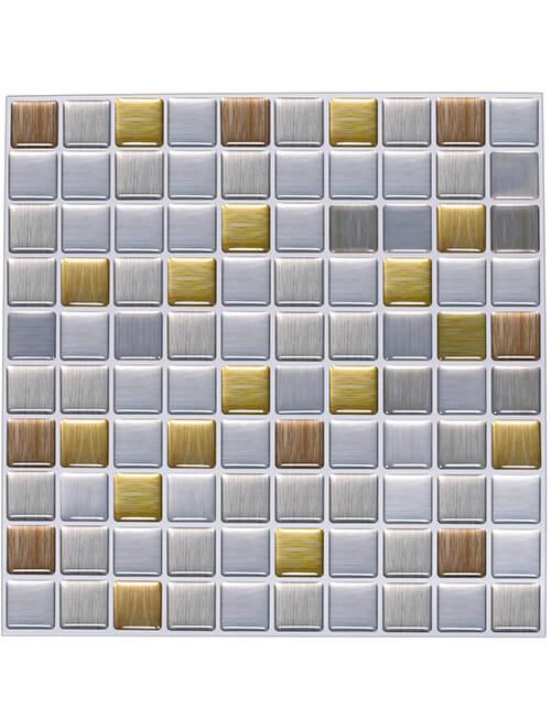 plastic tile backsplash