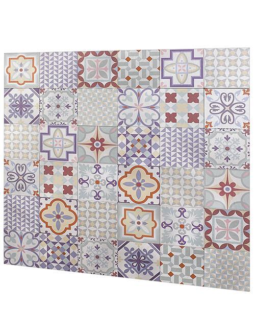 peel stick moroccan tile mega seamless patchwork pattern 5pcs per pack