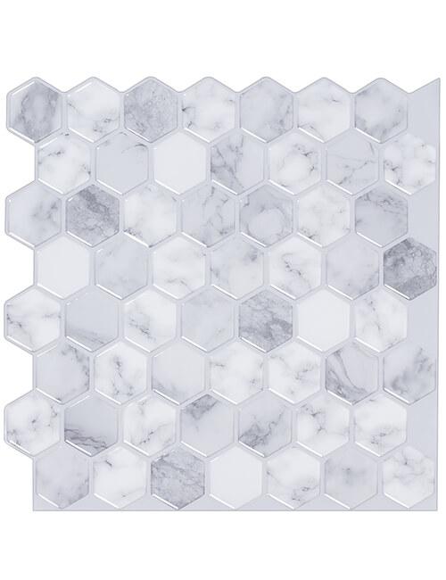 carrara marble hexagon tile