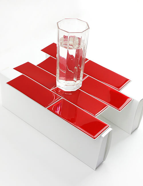 high quality red subway tile