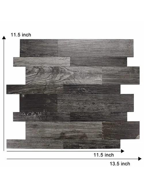 diy peel and stick wood wall tile backsplash 5pcs per pack