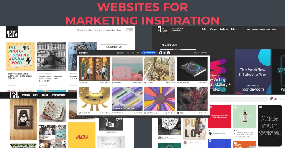 9 websites for marketing inspiration