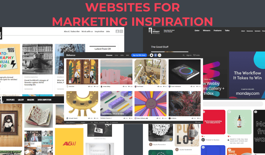 9 websites for marketing inspiration