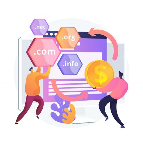 Domain Flipping abstract concept vector illustration.