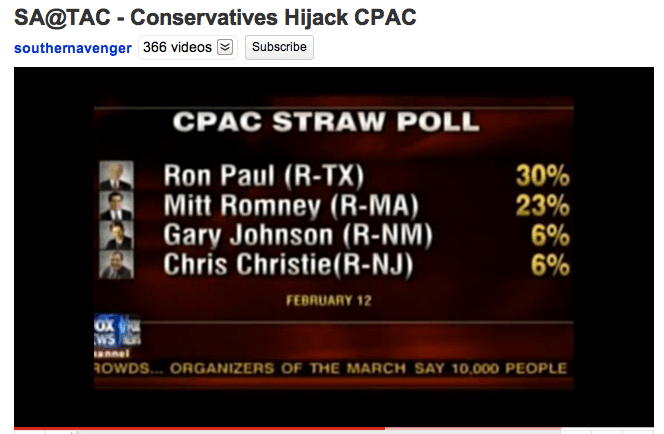 Conservatives Hijack CPAC by Southern Avenger