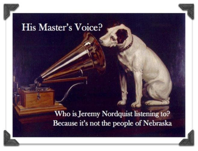 Senator Jeremy Nordquist: Listens to His Master's Voice . . . But Who's His Master?