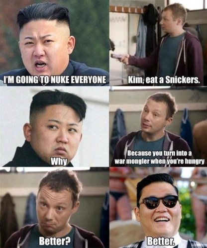 All Kim needs is a Snickers bar