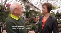 Leirion Gaylor Baird and Dick Campbell in Campbell's Nursery for Lincoln City Council race, May 2013, campaign commercial