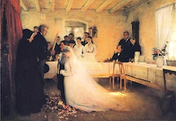 Blessing_of_the_Young Couple Before Marriage, painting by Pascal Dagnan Bouveret