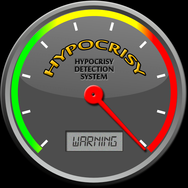 "Hypocrisy meter graphic by ""askgriff"" of Deviant Art"