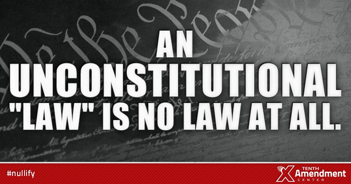 Unconstitutional acts, not law.